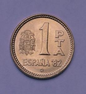 1 peseta de 1980